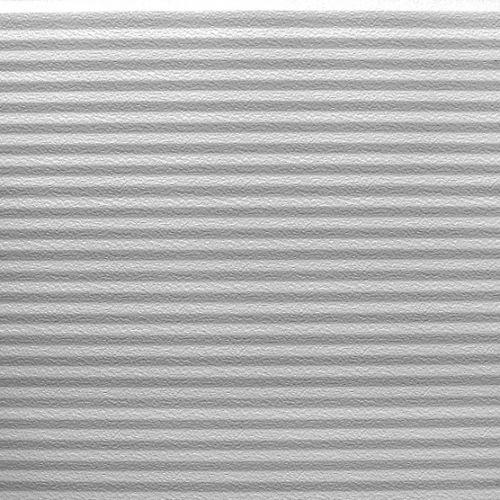 Srebrny, przetłoczenie faliste głębokie