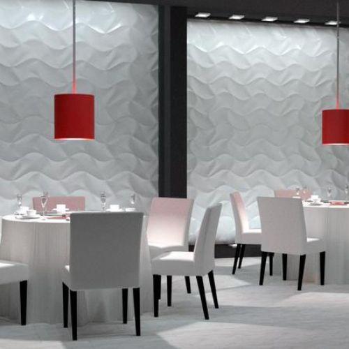 panele 3d w restauracji